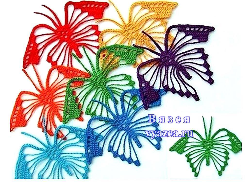 Нежная бабочка крючком