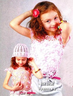 Кофта крючком для девочки 5 лет