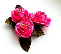 Роза из лент своими руками