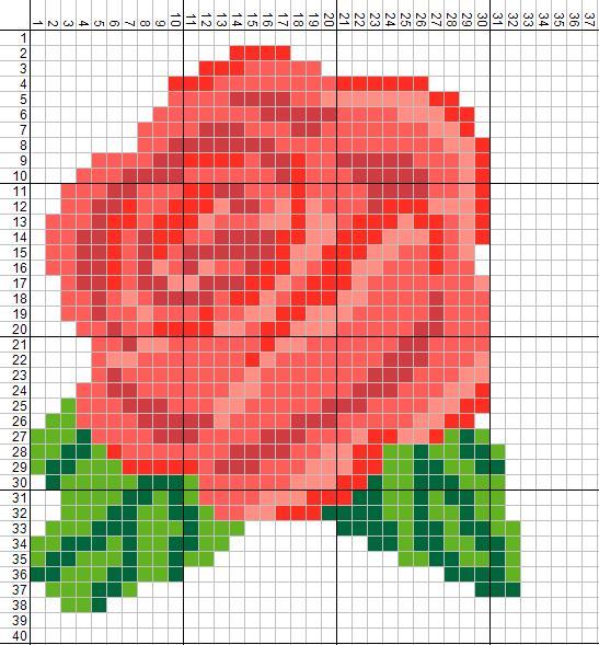 Схема жаккард Роза