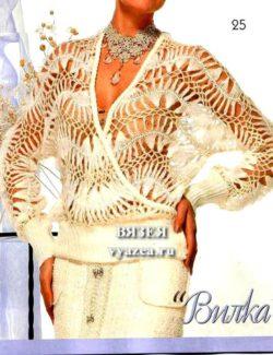 Блуза крючком на вилке