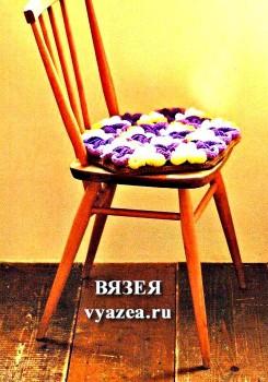 Чехол на стул крючком
