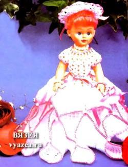 Как связать платье для куклы крючком