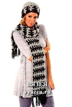 Шапка и шарф крючком