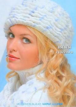 Зимняя шапка и шарф крючком