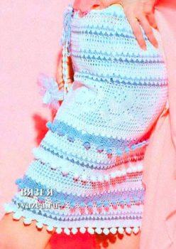 Юбка крючком филейное вязание
