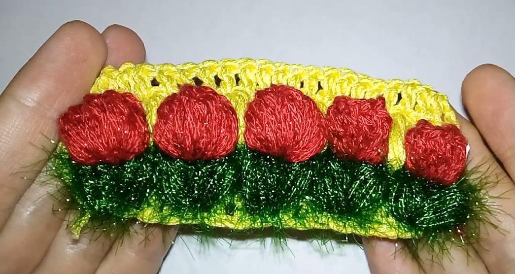 Узор крючком с цветами