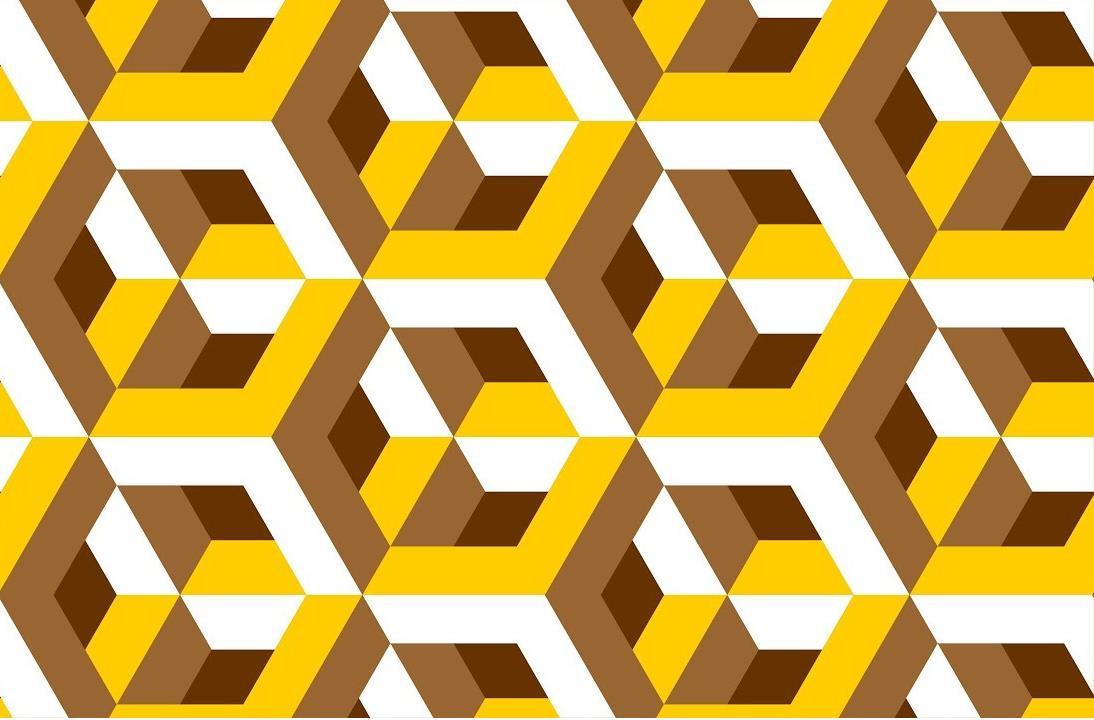 Узор крючком 3-Д Оптическая иллюзия