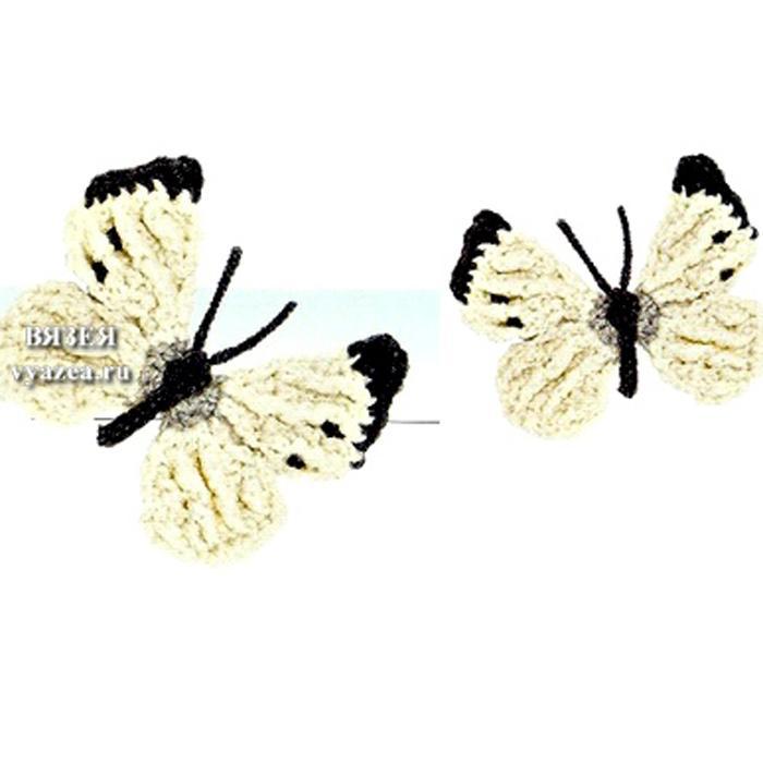 Бабочка крючком