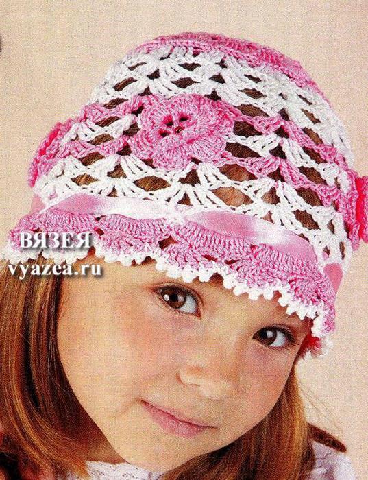 Летняя детская шапка крючком