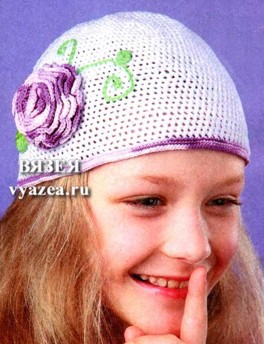 шапка детская вязанная крючком схемы