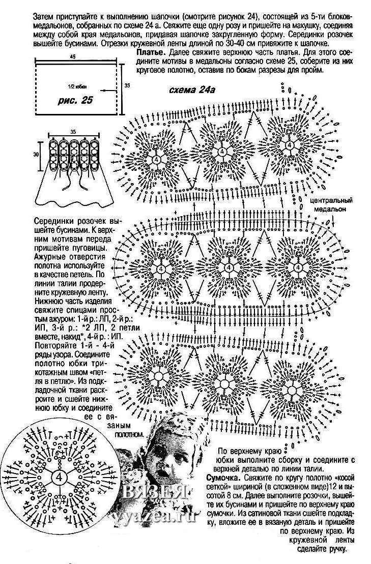 Крестильный набор крючком со схемой