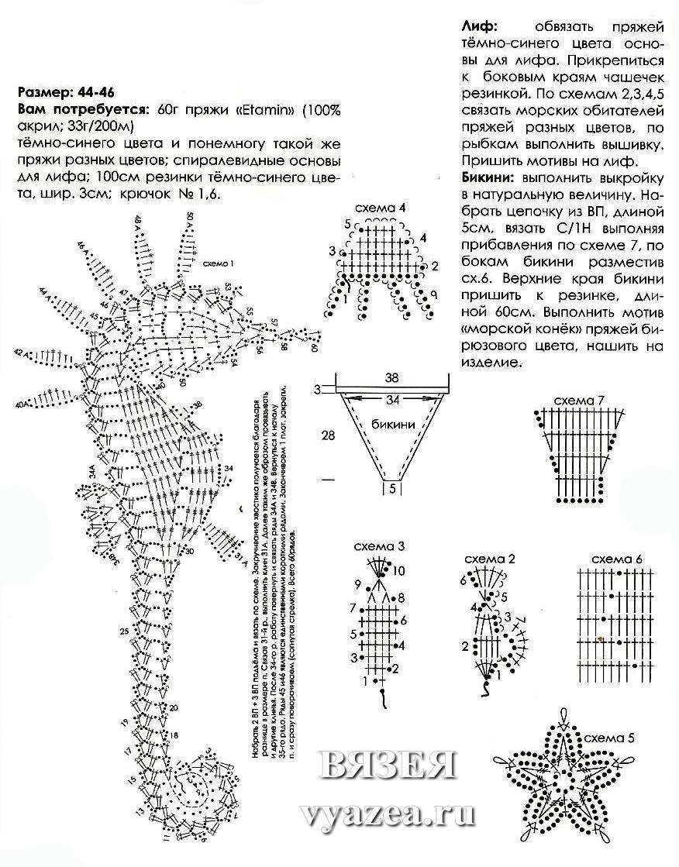 Вязанные крючком купальники для детей схемы