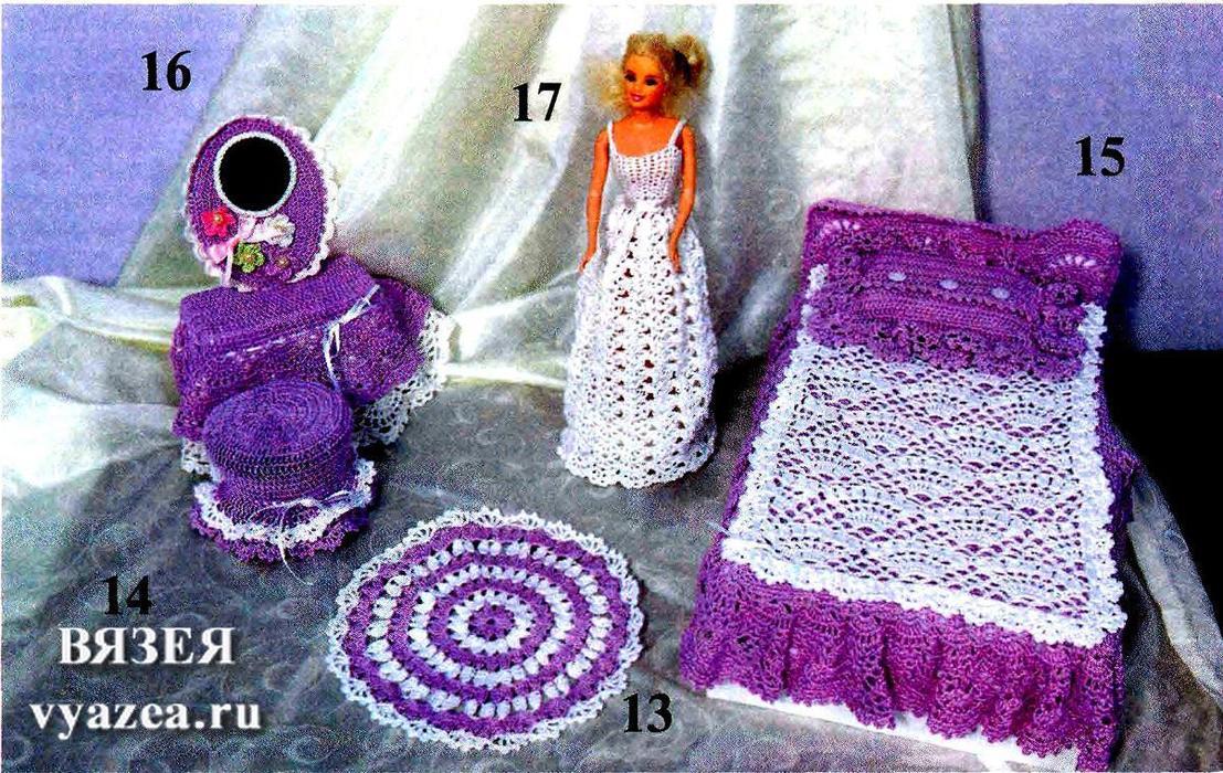 платья для барби схемы крючком