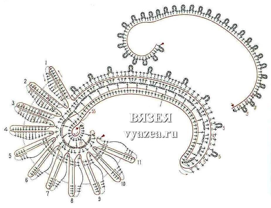 ирландское кружево бабочки схемы