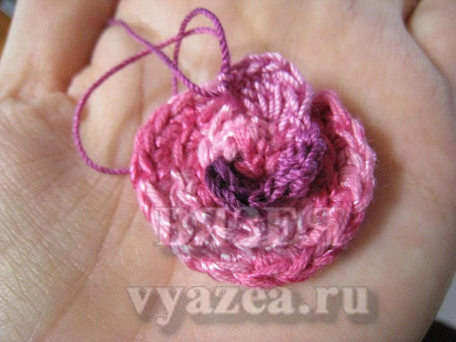 Вязание крючком роз мастер класс 55
