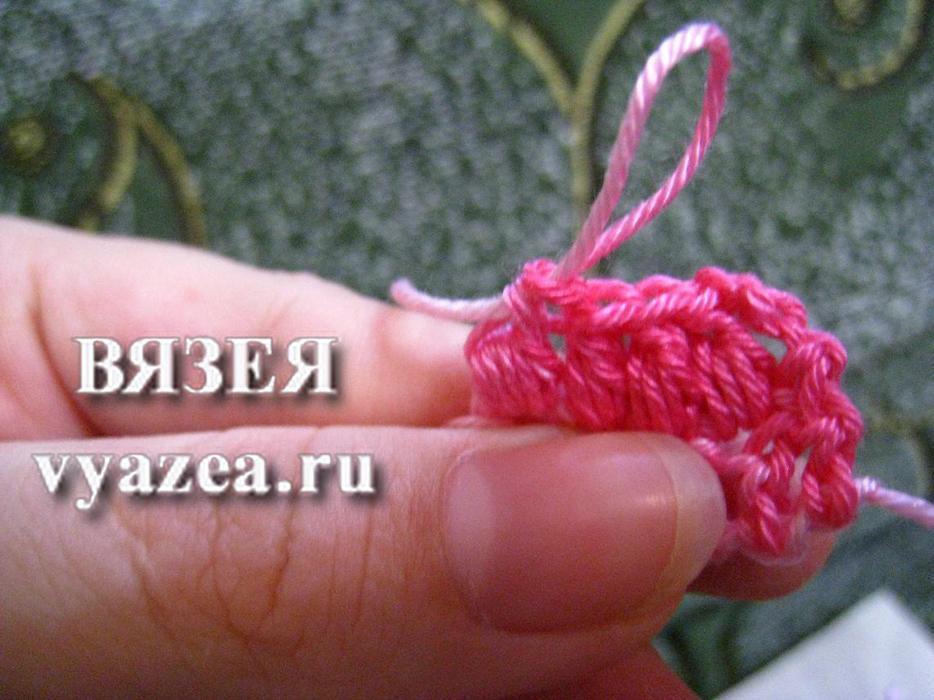 Вязание крючком мастер класс пышный столбик 6