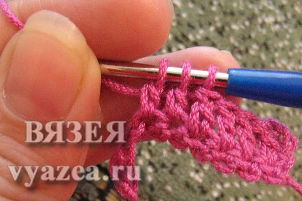 Вязание двумя крючками на манер спиц