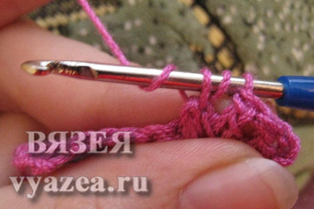 Вязание крючком лицевые столбики крючком