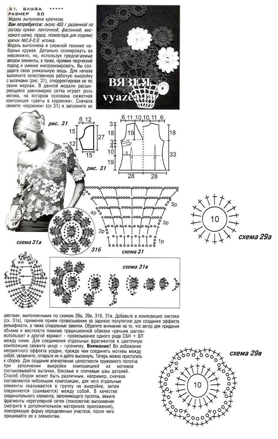Ирландское кружево модели схемы мирославы горохович