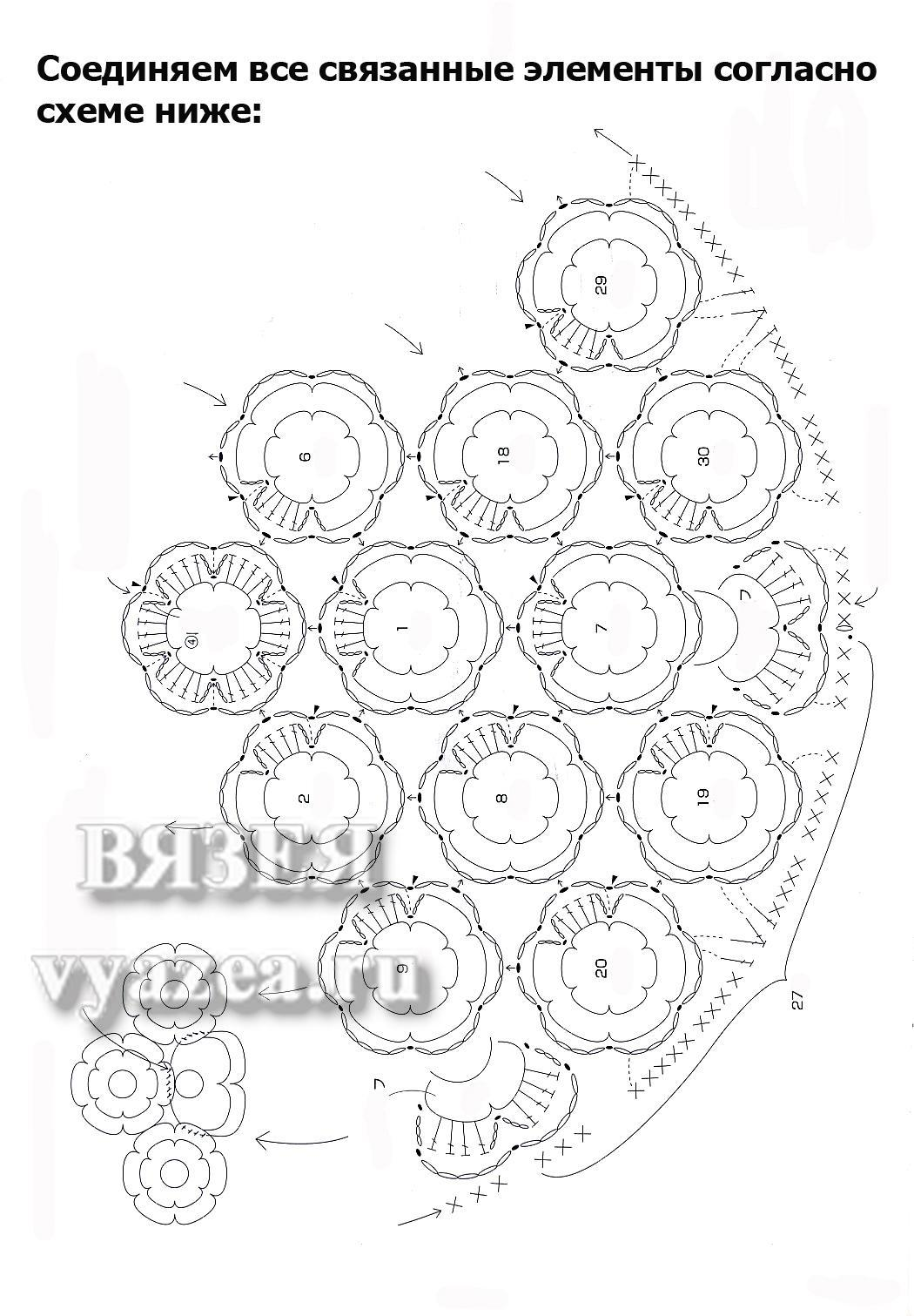 Вязаные коврики для детской схемы 73