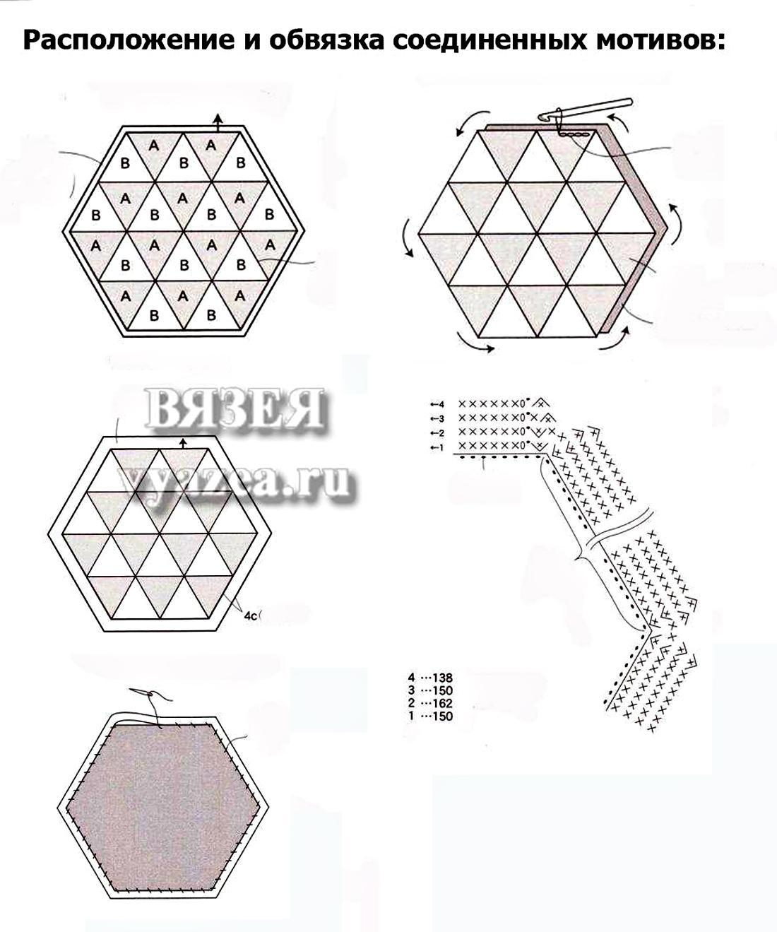 Накидки на табурет крючком схемы вязания 100