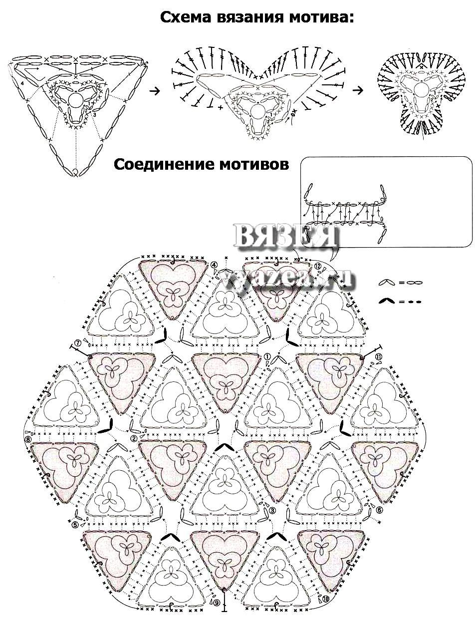 Накидки на табурет крючком схемы вязания 18
