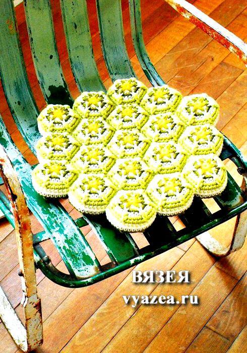 Сидушка на стул крючком схема и описание