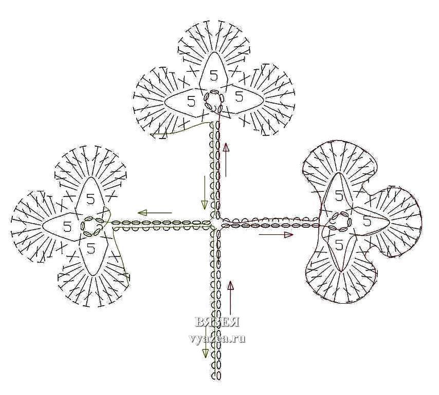 Листья крючком схема