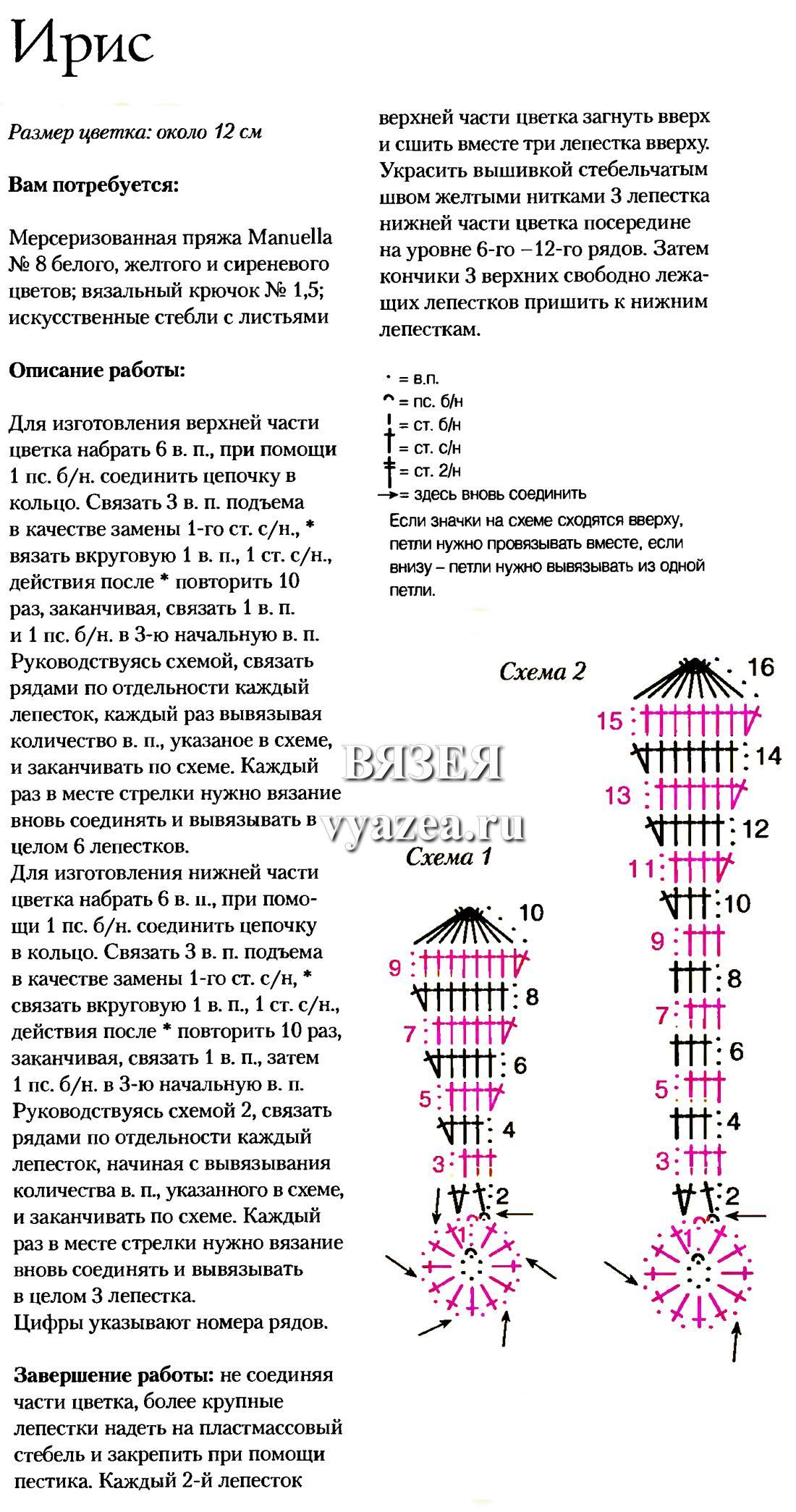 Вязание из ириса спицами схемы 93