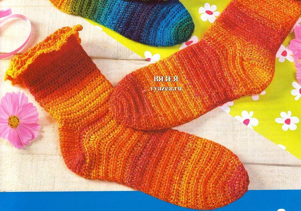 Вязание крючком носочки 133