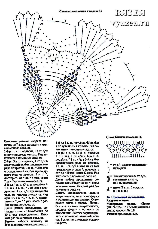 Колокольчики спицами схема и описание
