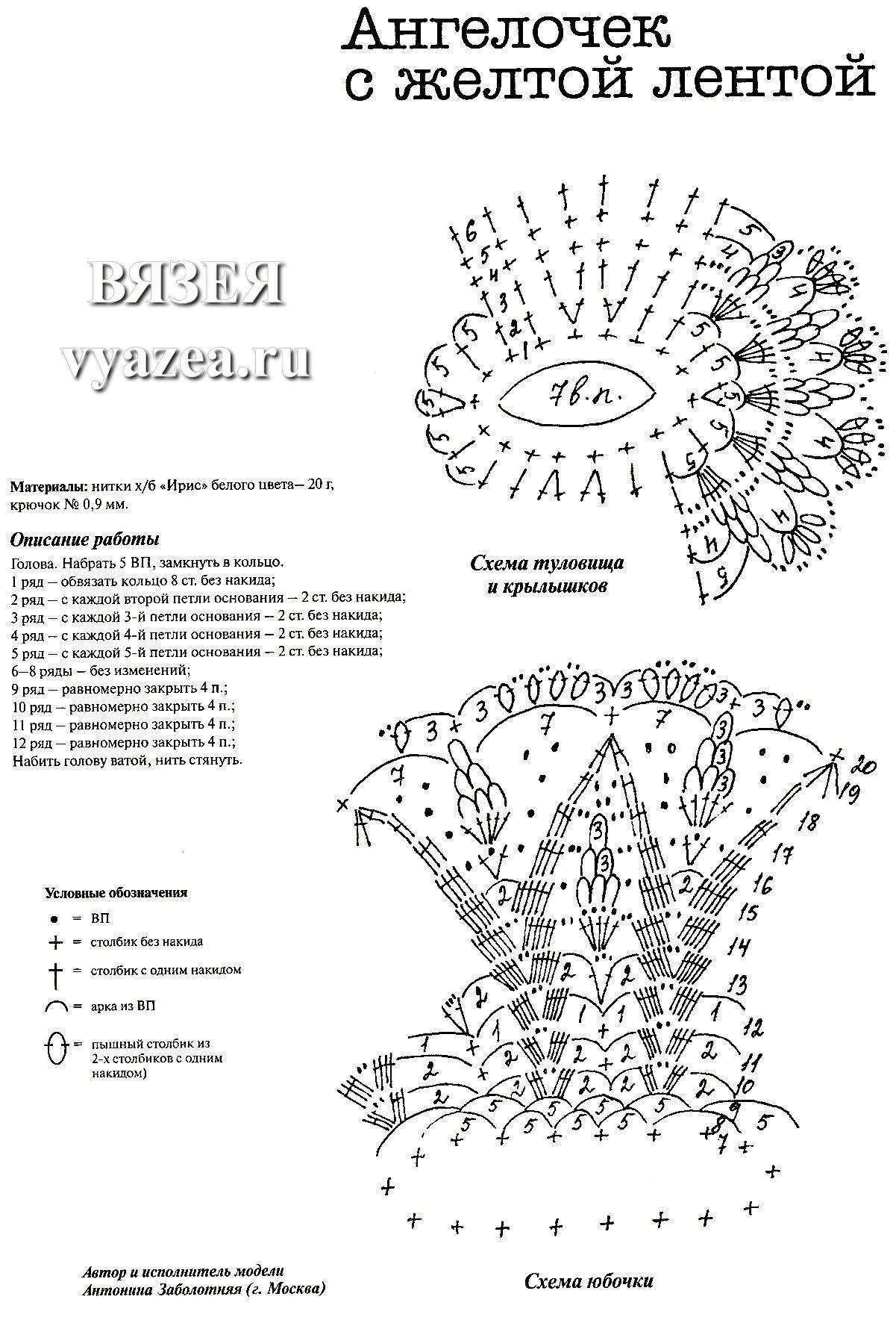 Вязание ангела крючком схемы с описанием 92