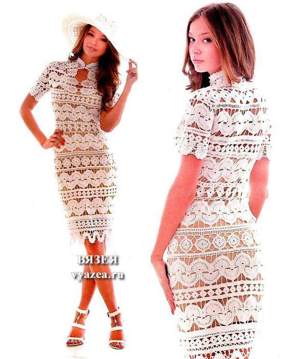 Красивые платья вязанные крючком