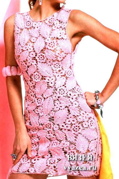 Сцепное кружево на платье