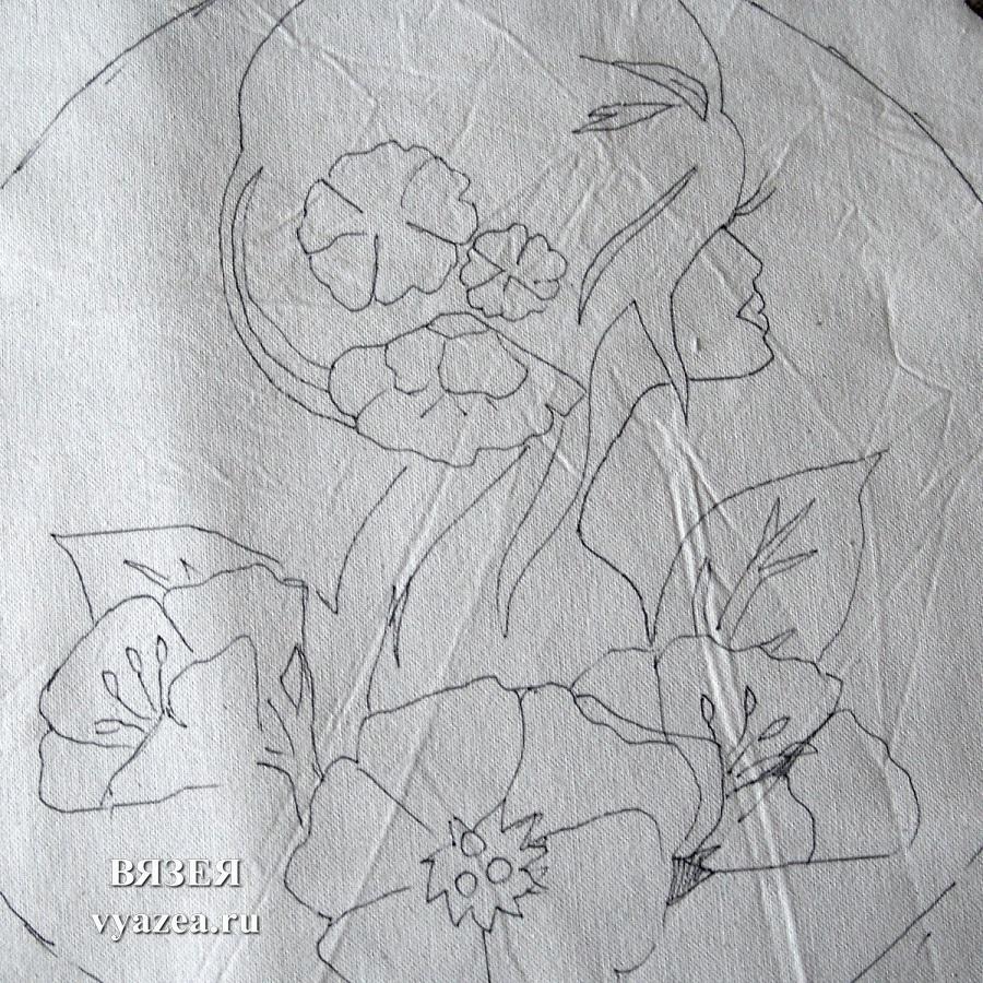 наволочки на подушки в ковровой вышивке