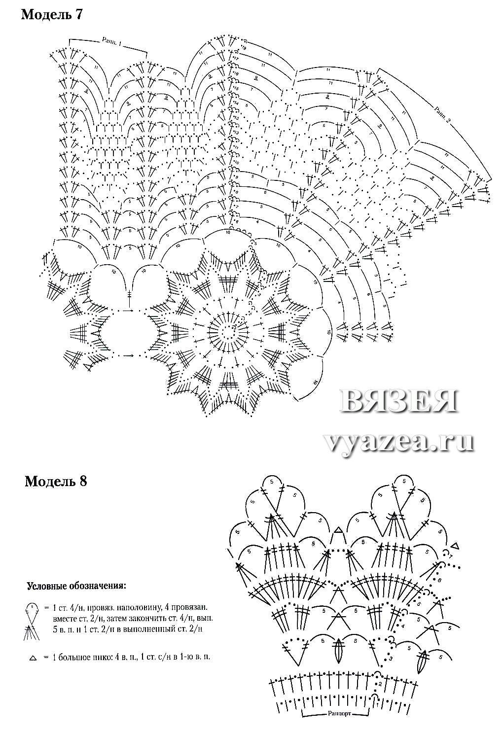 Схемы вязания крючком салфеток овальной формы6
