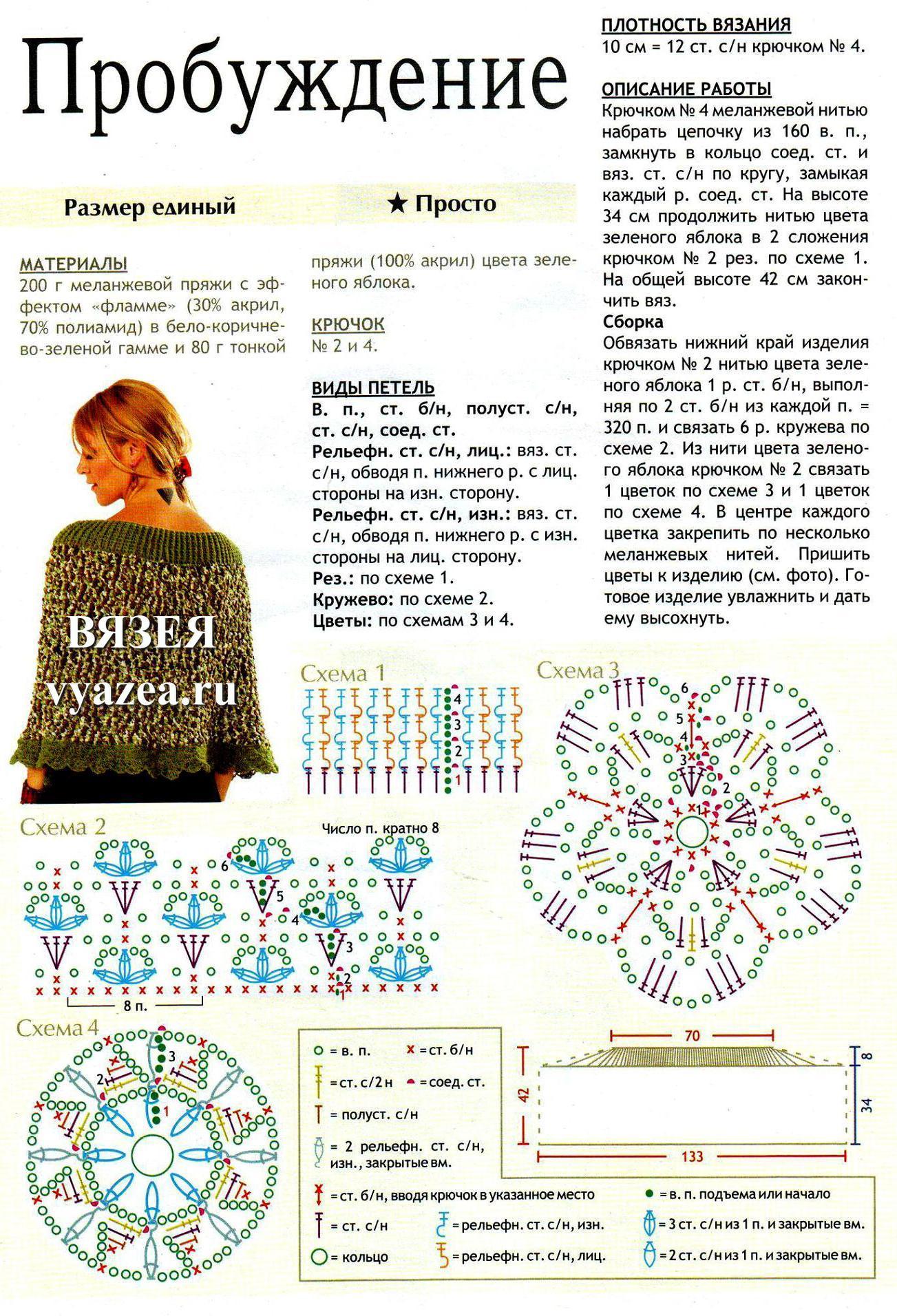 Схемы к связанным платками