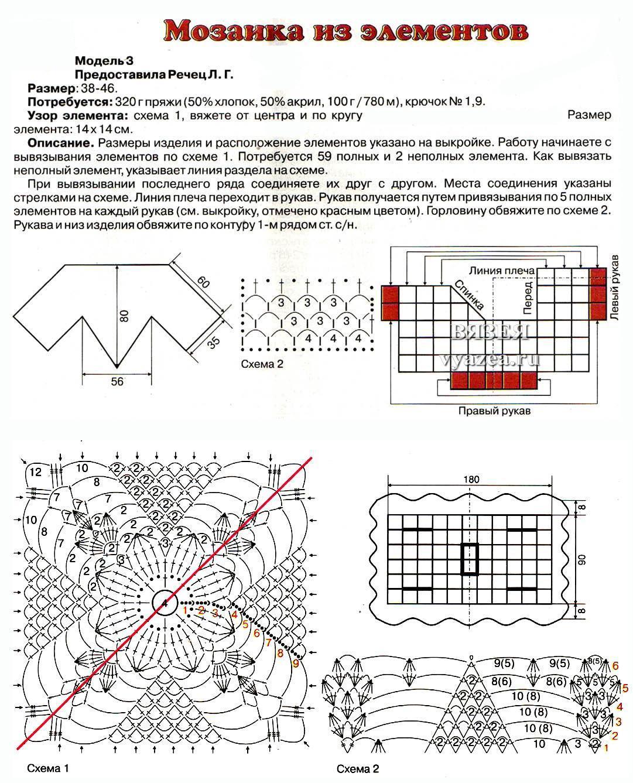 Пончо крючком схемы и описание для девочек 3-4