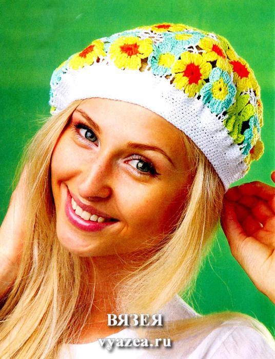 Модели с описанием вязания шапок и