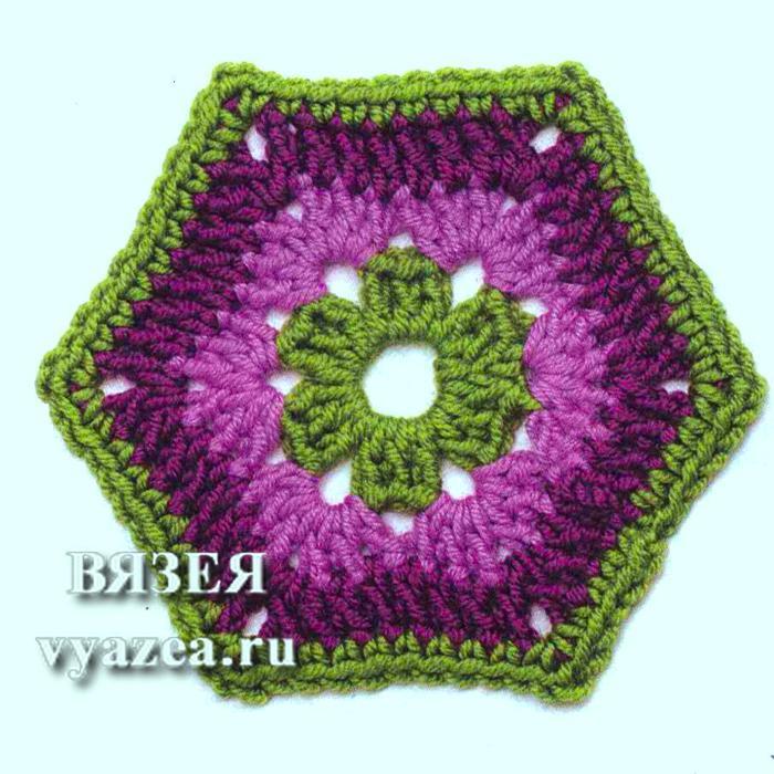 шестиугольные мотивы крючком