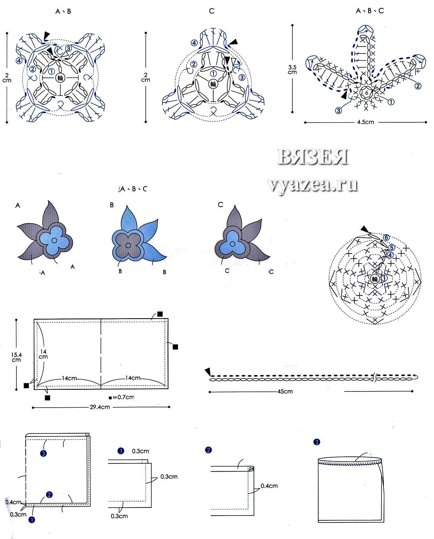 сумки вязанные крючком 3 5 со схемами и описанием для начинающих
