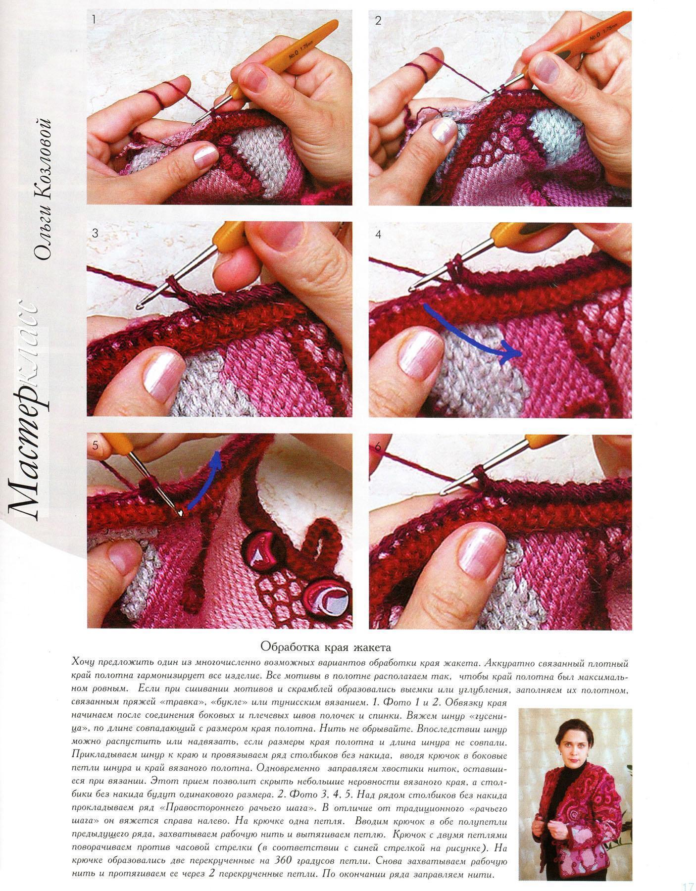 Обработка краев в вязании