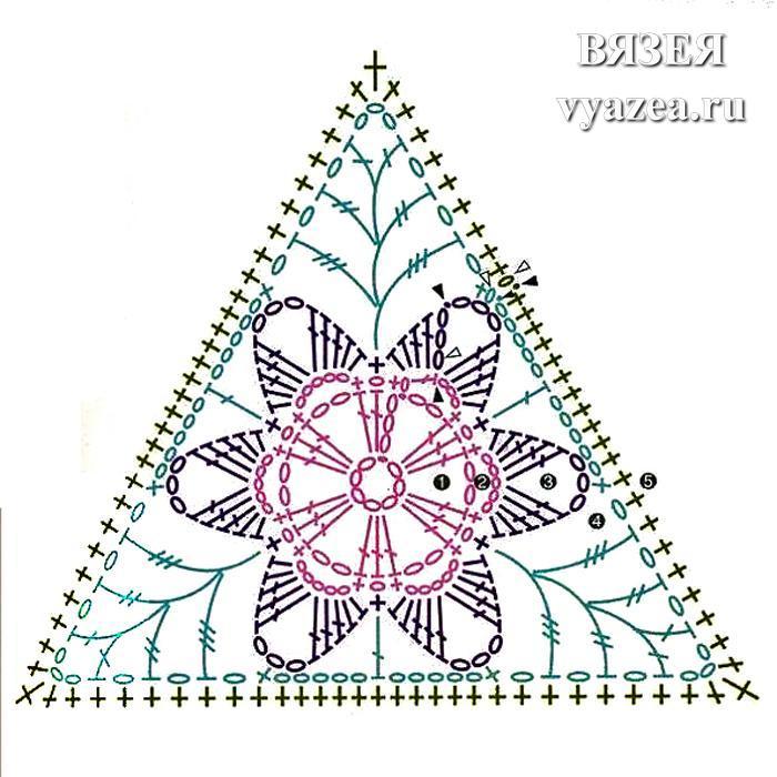 Треугольный мотив крючком: