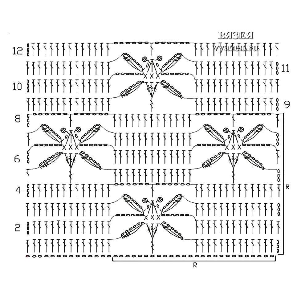 Платок с вышивкой крестом 12