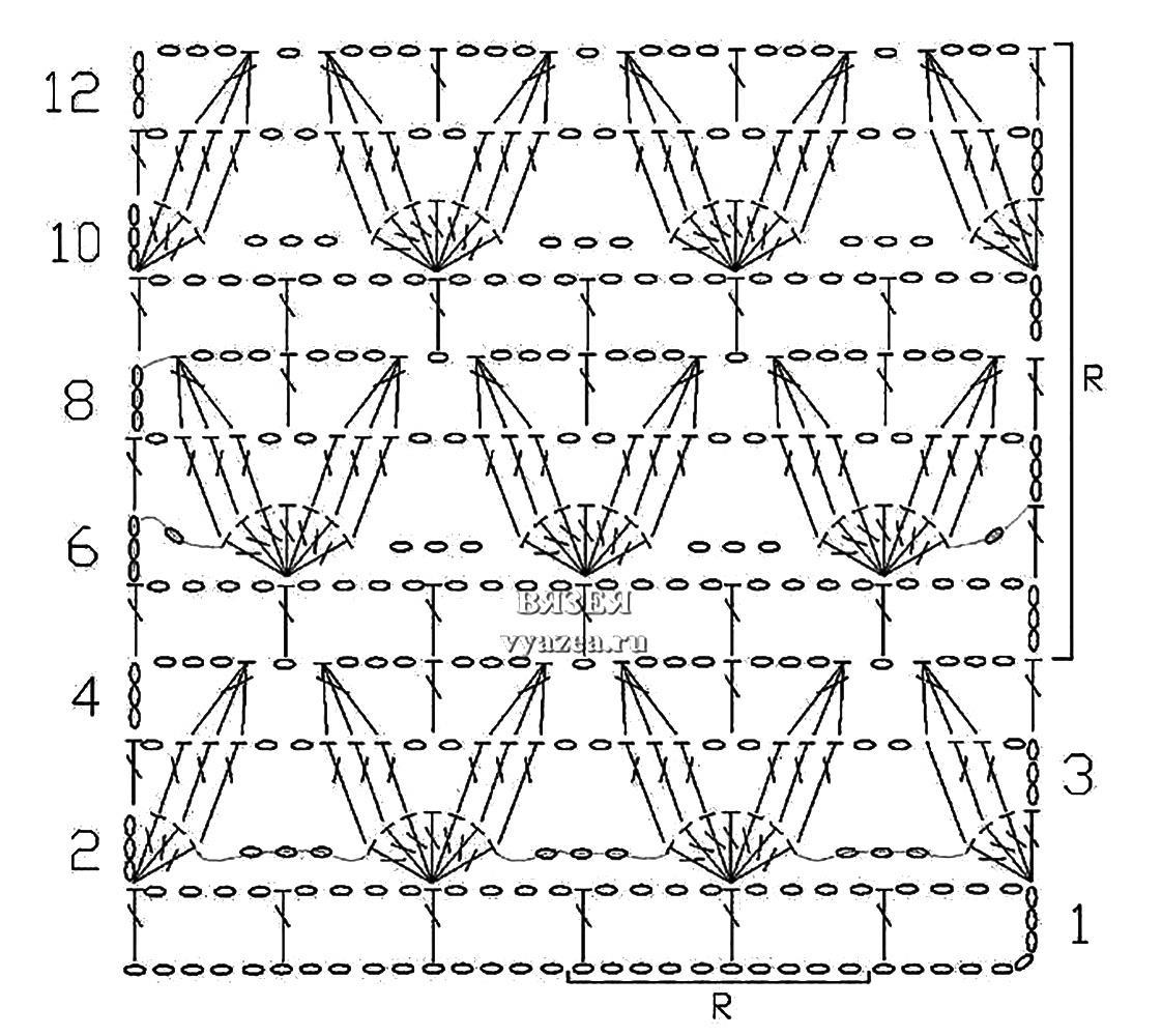 ажурные рисунки крючком со схемами