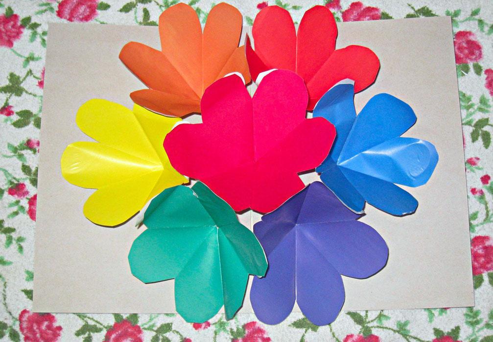 Объемная открытка с цветочками 61