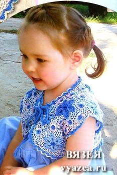 Болеро для девочки крючком схемы и описание
