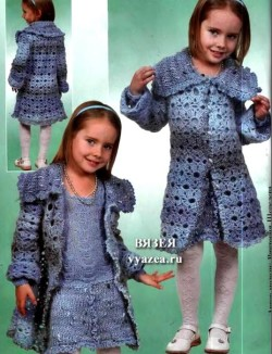 Вязание детского пальто крючком