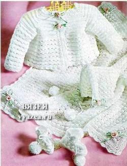 одежда для новорожденных крючком